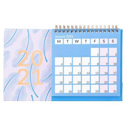 Camo Foliage Desk Calendar Leaf Print