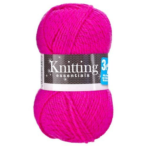 DOUBLE KNIT 50G YARN PINK SPARKLE