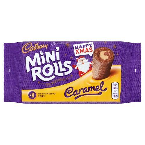 Cadbury Caramel Mini Rolls 8 Pack