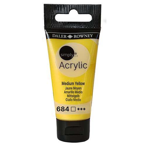 Daler-Rowney Simply Acrylic Medium Yellow 30ml