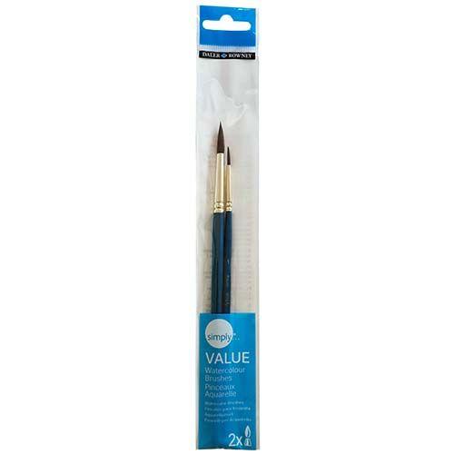 Daler-Rowney Simply Watercolour Brush Set 2pk