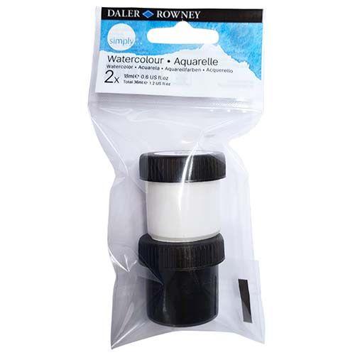 Daler-Rowney Simply Watercolour Black & White 2pk