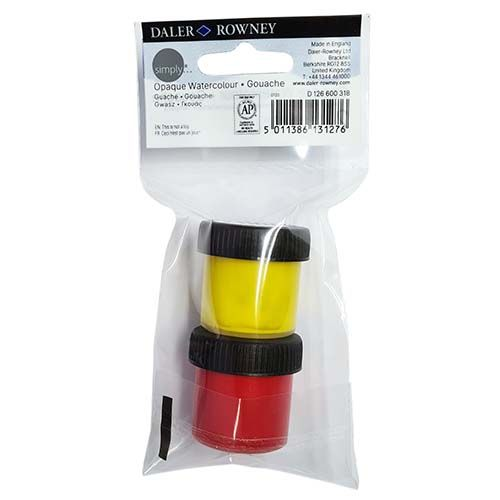 Daler-Rowney Simply Watercolour Yellow & Red 2pk