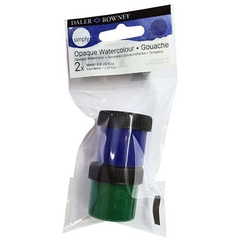 Daler-Rowney Simply Watercolour Blue & Green 2pk