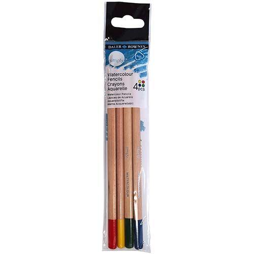 Daler-Rowney Simply Water Colour Pencils 4pk