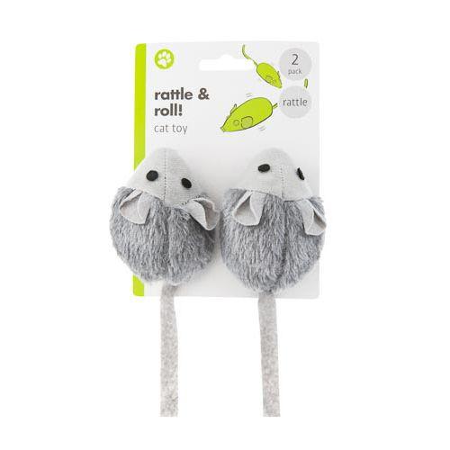 Mini Rattle Mice 2pk