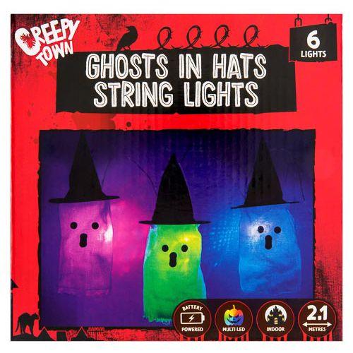 Ghost In Hat Lights 6pk