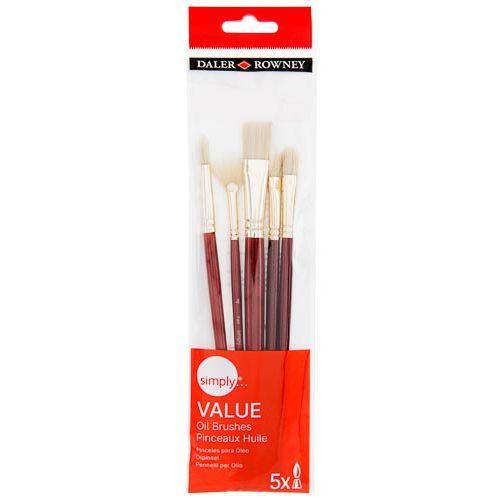 Simply Value Oil Brush Set 5pk