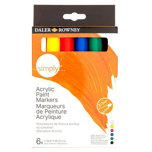 Simply Acrylic Markers 6pk