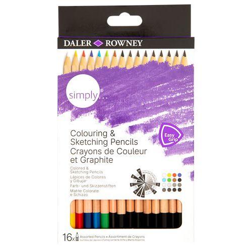Simply Sketch Colouring Book & Pencil Set
