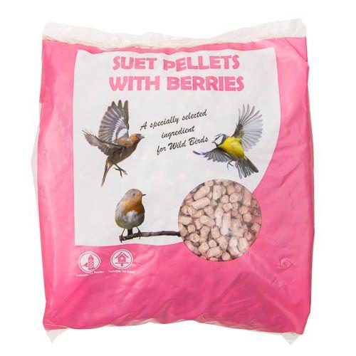 Wild Bird Suet Pellets Berry 500g