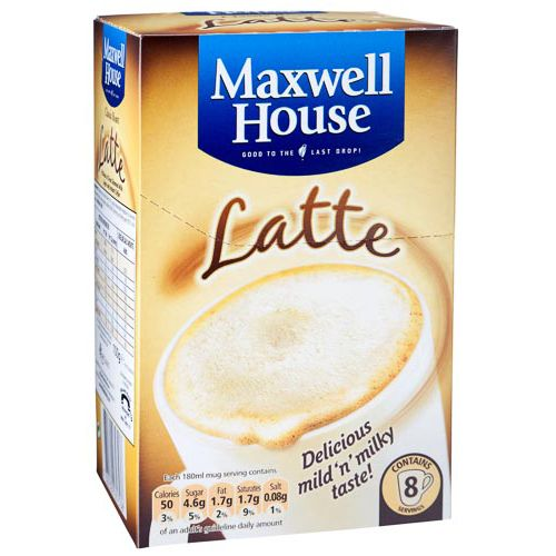 MAXWELL HOUSE LATTE 8 PACK
