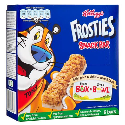 KELLOGGS FROSTIES CEREAL BARS 6 PACK