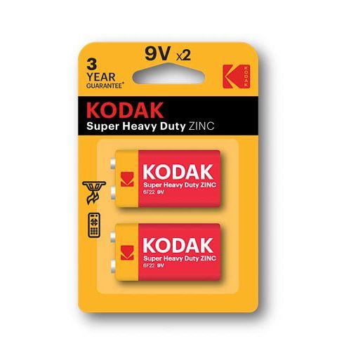 KODAK SUPER HEAVTY DUTY ZINC 9V X 2 PACK