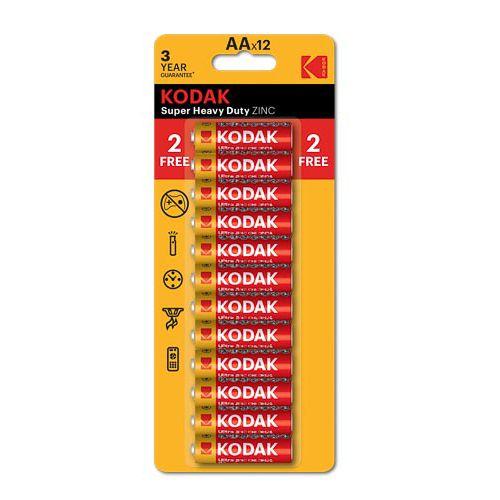Kodak Aa Zinc Batteries 10+2 Free Pack