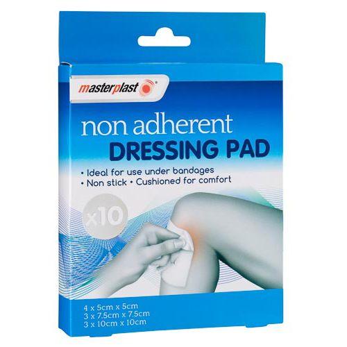 MASTERPLAST NON ADHERENT DRESSING PAD 10 PACK
