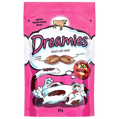 Dreamies Pouch With Tempting Beef 60g