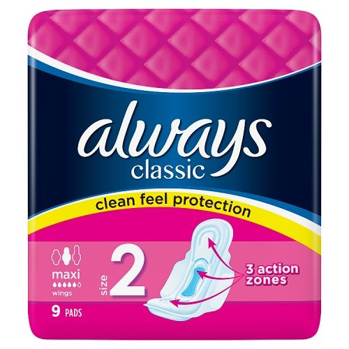 Always Maxi Classic Long Plus 9 Pack
