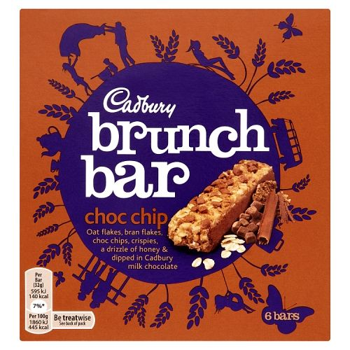 Cadbury Brunch Bar Chocolate Chip 6x32g 6pk