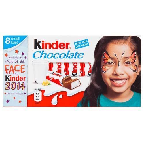 Kinder Chocolate 12.5g 8 Pack