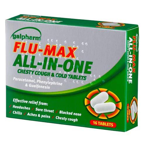 GALPHARM FLU MAX ALL IN ONE 16 PACK