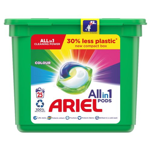 Ariel Colour All In 1 Washing Capsules 25w 595g