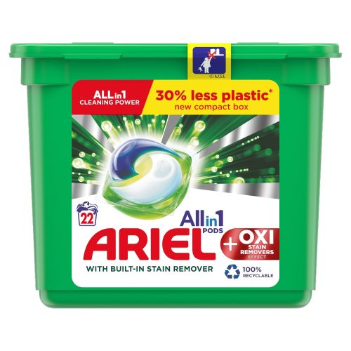 Ariel +oxy Stain Removers All In 1 Pods 22w
