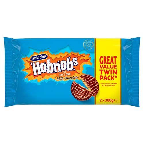 McVities Milk Chocolate Hobnobs Twin Pack 2x300g