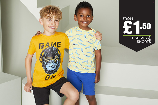 T-Shirts and Shorts from £1.50