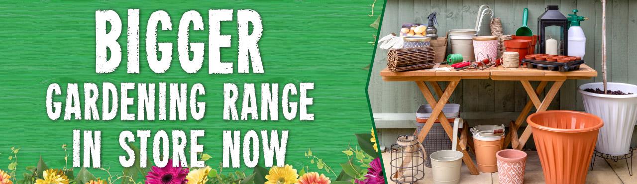 New garden range in store now