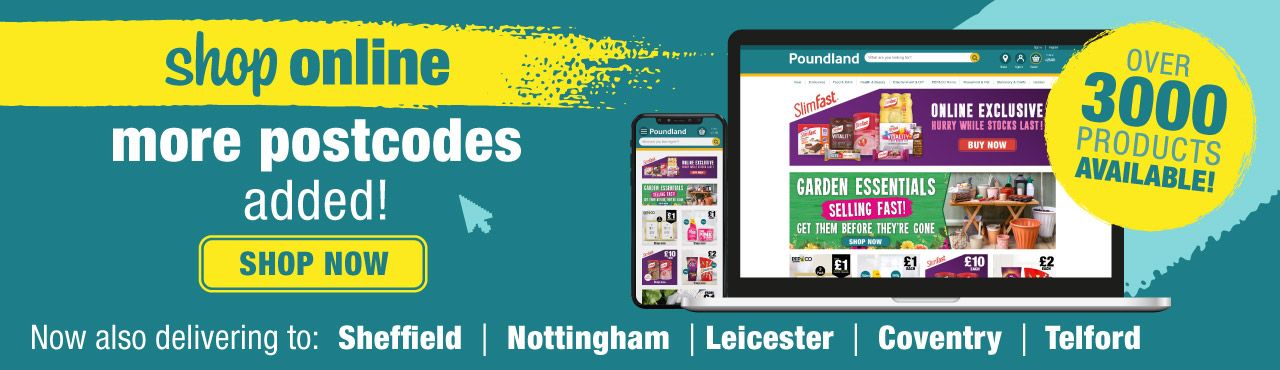 Online shop now available to even more postcodes