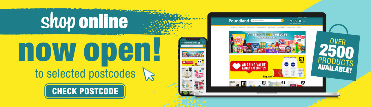 NEW online shop now available to selected postcodes